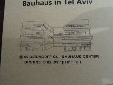 This is a common style of building in Tel Aviv. It is two apartment buildings attached with a courtyard in the middle. It is said that the Bauhaus movement was influenced by the cubist movement and you can see the influence in the shape of this buid